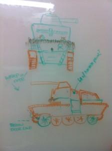 Early whiteboard draft